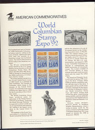 2616 29c World Columian Expo USPS Cat. 379 Commemorative Panel cp379