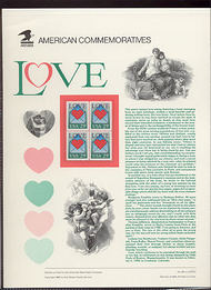 2618 29c Love USPS Cat. 381 Commemorative Panel cp381