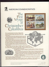 2620-3 29c First Voyage Columbus USPS Cat.383 Commemorative Panel cp383