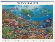 3831a-j 37c Pacific Reef Set of 10 Used Singles 3831a-jused