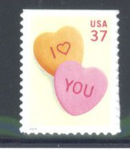 3833 37c Candy Hearts Used Single 3833used
