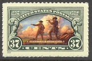 3854 37c Lewis and Clark F-VF Mint NH 3854nh
