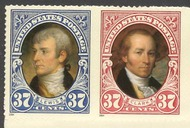 3855-6 37c Lewis and Clark F-VF Mint NH Pair  3855-6pr