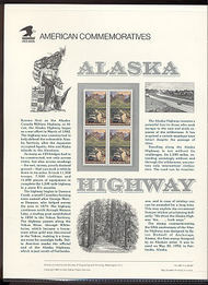 2635 29c Alaska Highway USPS Cat. 386 Commemorative Panel cp386