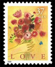 3898 37c Love Bouquet F-VF Mint NH 3898nh