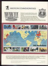 2697 29c World War II Sheetlet USPS Cat. 390 Commemorative Panel cp390