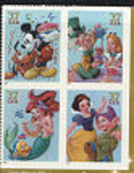 3912-5 37c Art of Disney Full Sheet 3912-5sh