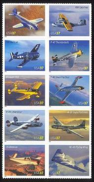 3916-25 37c American Aviation F-VF Mint NH 3916-25nh
