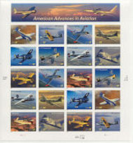 3916-25 37c American Aviation Full Sheet 3916-25sh