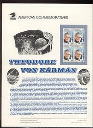 2699 29c Dr. T. von Kamman USPS Cat. 392 Commemorative Panel cp392