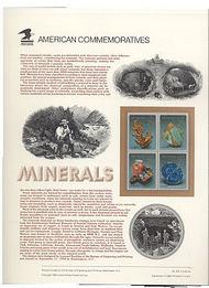 2700-3 29c Minerals block USPS Cat. 393 USPS Commemorative Pane cp393