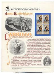 2704 29c Juan Rodriguez Cabrillo USPS Cat.394 USPS Commem Pane cp394