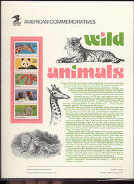 2705-9 29c Wild Animals Booklet USPS Cat. 395 Commemorative Panel cp395