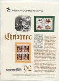 2710,2711-4 29c Christmas blocks USPS Cat. 396 Commemorative Panel cp396