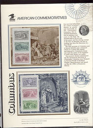 2624-9 1c-$5 Columbian S/S USPS Cat. 397-98 Commemorative Panels cp397