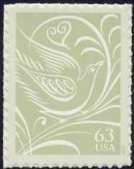 3999 63c Dove F-VF Mint NH 3999nh
