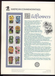 2647-96 29c Wildflowers USPS Cat. 400-4 USPS Commemorative Pane cp400