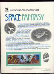 2745a 29c Space Fantasy Bkt USPS Cat. 407 Commemorative Panel cp407