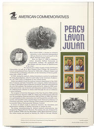 2746 29c Percy Lavon Julian USPS Cat. 408 Commemorative Panel cp408