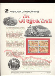 2747 29c Oregon Trail USPS Cat. 409 Commemorative Panel cp409