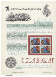 2722 29c Oklahoma! USPS Cat. 412 Commemorative Panel cp412