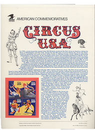 2750-53 29c Circus U. S. A. USPS Cat. 413 Commemorative Panel cp413