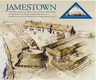 4136 41c Settling of Jamestown F-VF Mint NH Souvenir sheet 4136nh