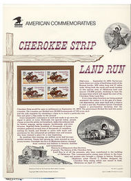 2754 29c Cherokee Strip USPS Cat. 414 Commemorative Panel cp414