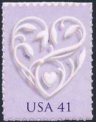 4151 41c Silver Heart  Used Single 4151used