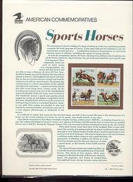 2756-9 29c Sports Horses USPS Cat. 416 Commemorative Panel cp416