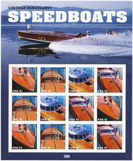 4163a 41c Speedboats F-VF Mint NH Sheet of 12 4163a