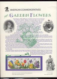 2760-64 29c Garden Flowers USPS Cat. 417 Commemorative Panel cp417