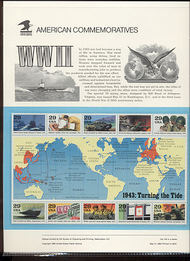 2765 29c World War II-Sheetlet USPS Cat. 418 Commemorative Panel cp418