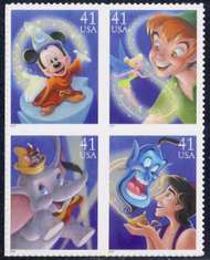 4192-95 41c Disney Full Sheet 4192sh