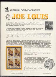 2766 29c Joe Louis USPS Cat. 421 Commemorative Panel cp421