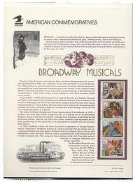 2770a 29c Broadway Musicals(4) USPS Cat. 422 Commemorative Panel cp422