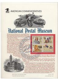 2779-82 29c Postal Museum USPS Cat. 423 Commemorative Panel cp423