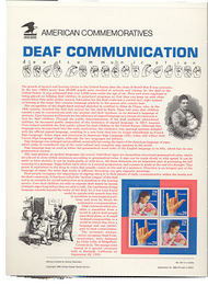 2783-84 29c Deaf Communications USPS Cat.424 Commemorative Panel cp424