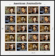 4248-52 42c Amercian Journalists Full Sheet 4248-52sh