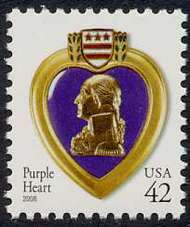 4263 42c Purple Heart WA F-VF Mint NH 4263nh