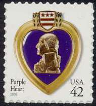 4264 42c Purple Heart SA Full Sheet 4264sh