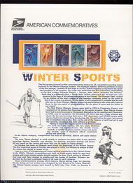 2807-11 29c Winter Olympics USPS Cat. 431 Commemorative Panel cp431
