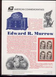 2812 29c Edward R. Murrow USPS Cat. 432 Commemorative Panel cp432