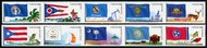 4313-22 44c Flags of Our Nation Set 5 Mint NH Two Strips of 5 4322nh