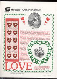 2814a 29c Dove Love Booklet USPS Cat. 435 Commemorative Panel cp435