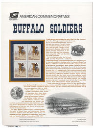 2818 29c Buffalo Soldiers USPS Cat. 436 Commemorative Panel cp436