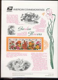 2829-33 29c Garden Flowers USPS Cat. 438 Commemorative Panel cp438