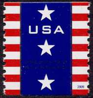 4385 (10c) Patriotic Banner 2009 Presort Coil F-VF NH PNC of 3 4385pnc