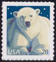 4387 28c Polar Bear F-VF NH 4387nh