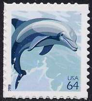 4388 64c Dolphin Full Sheet 4388s